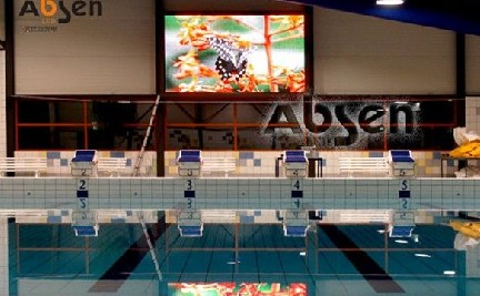 Yi Bisen LED display blooming swimming pool in the Netherlands