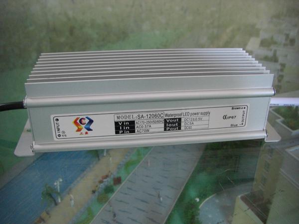 ماء LED التيار الكهربائي التبديل 12V 60W